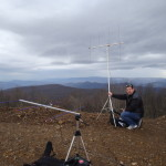 Erik WX4ET, keeping his antenna from blowing over again